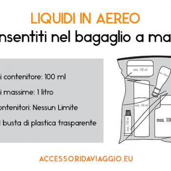 liquidi bagaglio a mano aereo