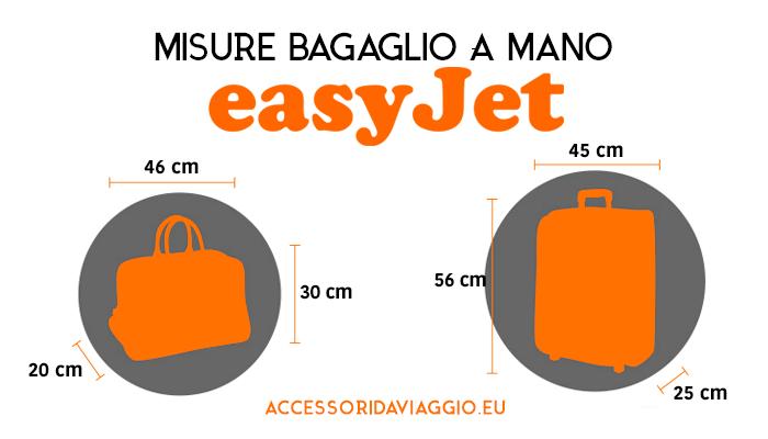 misure bagaglio mano EasyJet