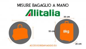 brillante nella lucentezza autentico cerca autentico Bagaglio a mano Alitalia: misure, peso e check-in