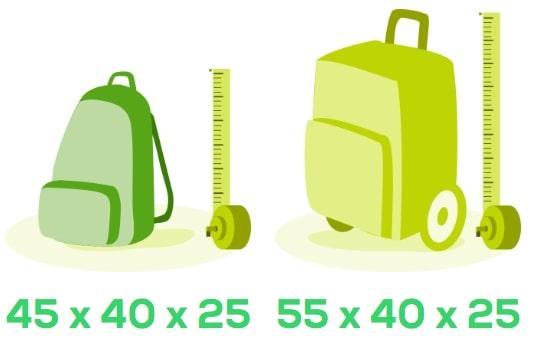 misure bagaglio a mano transavia